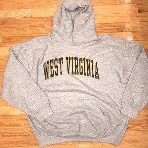 West Virginia University Hoodie Gray WVU Large Men